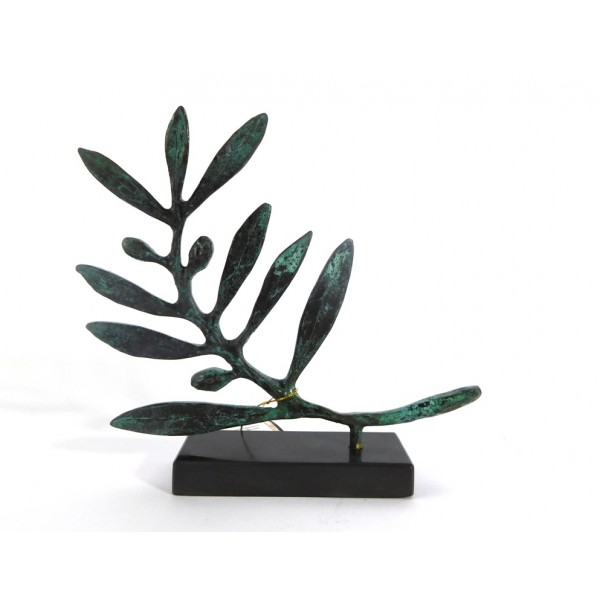 Olive branch sculpture