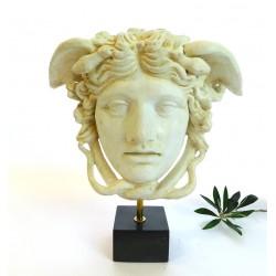 Medusa head on a base