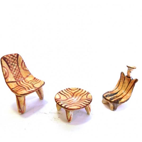 Terracotta chair table