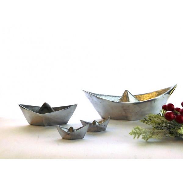 Handmade aluminum boats -Set of 4