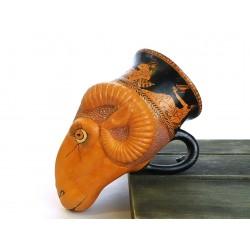Rhyton ram's head